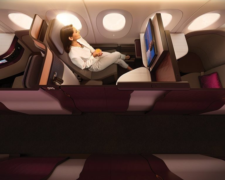 Se Qatar Airways nya Business Class-kabin