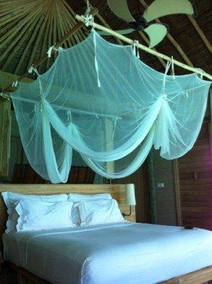 Bed in villa