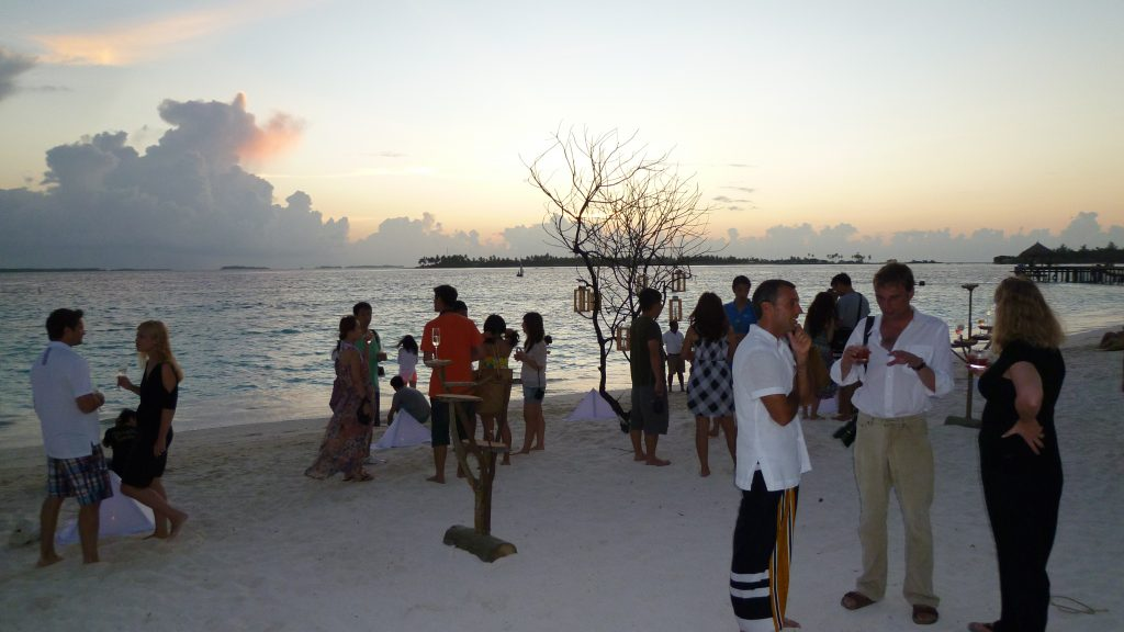 Drinkar på stranden