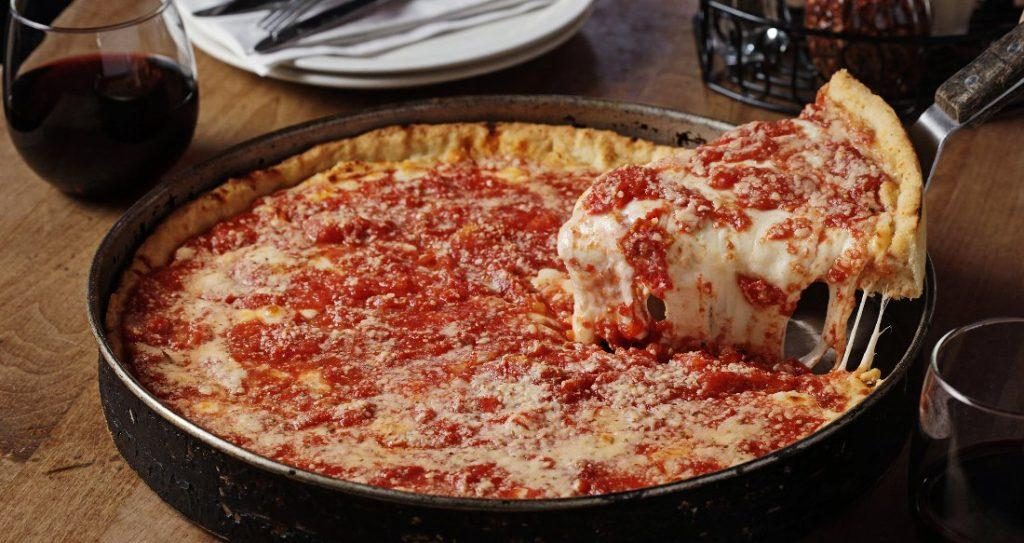 Chicago, deep dish pizza
