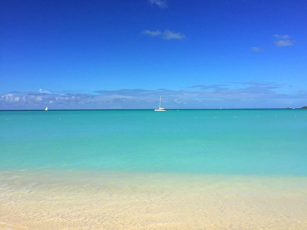 Drömstrand på Antigua