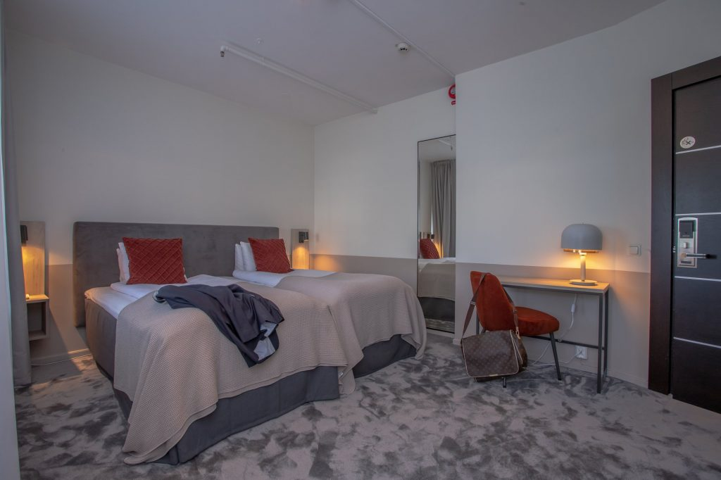 renoverat rum på Järva Park Hotel