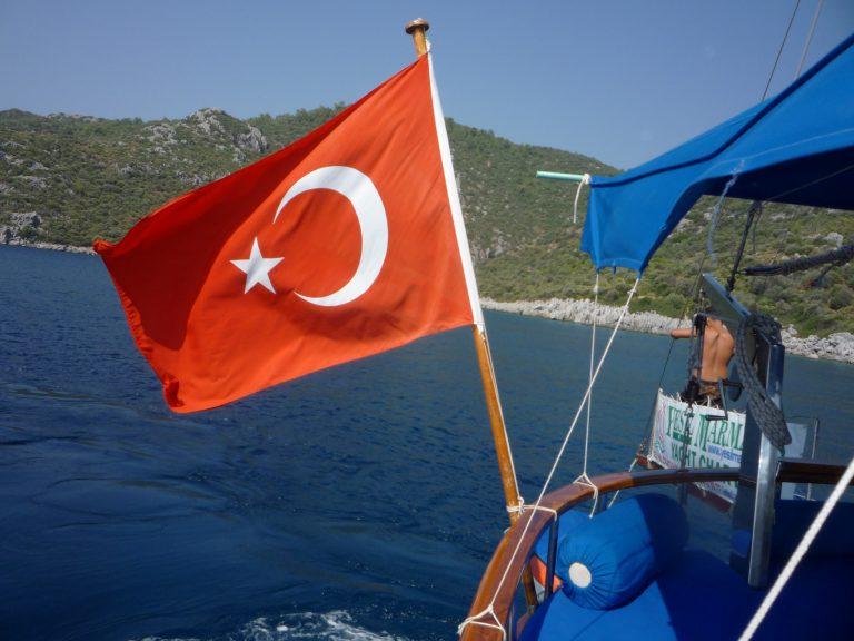 Gulet, segling i Turkiet